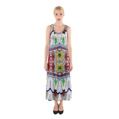Kaleidoscope Background  Wallpaper Sleeveless Maxi Dress