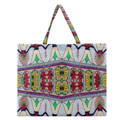 Kaleidoscope Background  Wallpaper Zipper Large Tote Bag by BangZart