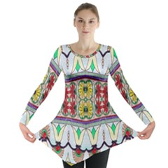 Kaleidoscope Background  Wallpaper Long Sleeve Tunic