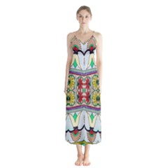 Kaleidoscope Background  Wallpaper Button Up Chiffon Maxi Dress