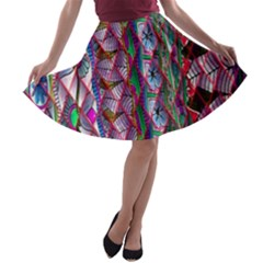 Textured Design Background Pink Wallpaper Of Textured Pattern In Pink Hues A Line Skater Skirt