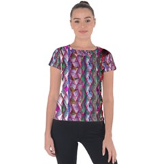 Textured Design Background Pink Wallpaper Of Textured Pattern In Pink Hues Short Sleeve Sports Top