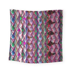 Textured Design Background Pink Wallpaper Of Textured Pattern In Pink Hues Square Tapestry (small)