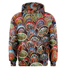 Colorful Oriental Bowls On Local Market In Turkey Men s Pullover Hoodie