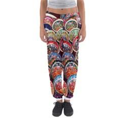 Colorful Oriental Bowls On Local Market In Turkey Women s Jogger Sweatpants