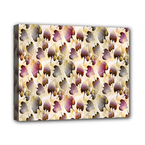 Random Leaves Pattern Background Canvas 10  X 8