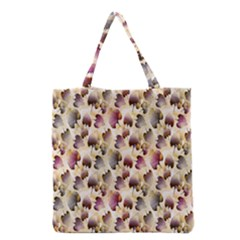 Random Leaves Pattern Background Grocery Tote Bag by BangZart