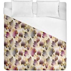 Random Leaves Pattern Background Duvet Cover (king Size)
