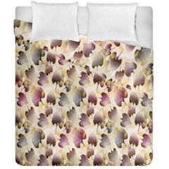Random Leaves Pattern Background Duvet Cover Double Side (california King Size)