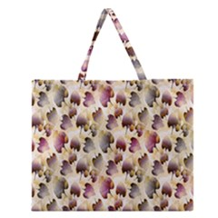 Random Leaves Pattern Background Zipper Large Tote Bag by BangZart