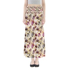 Random Leaves Pattern Background Full Length Maxi Skirt