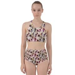 Random Leaves Pattern Background Bikini Swimsuit Spa Swimsuit