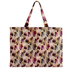 Random Leaves Pattern Background Medium Zipper Tote Bag