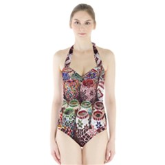 Colorful Oriental Candle Holders For Sale On Local Market Halter Swimsuit