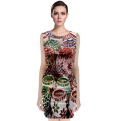 Colorful Oriental Candle Holders For Sale On Local Market Classic Sleeveless Midi Dress