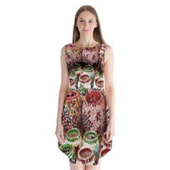Colorful Oriental Candle Holders For Sale On Local Market Sleeveless Chiffon Dress