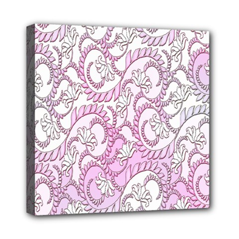 Floral Pattern Background Mini Canvas 8  X 8  by BangZart