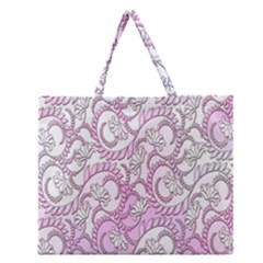 Floral Pattern Background Zipper Large Tote Bag by BangZart