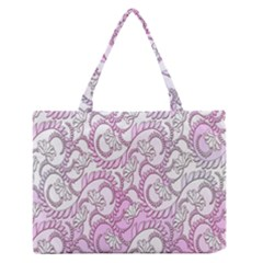 Floral Pattern Background Medium Zipper Tote Bag