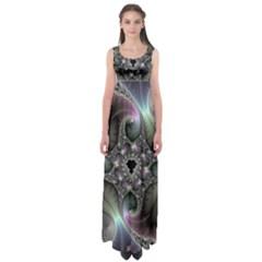 Precious Spiral Empire Waist Maxi Dress