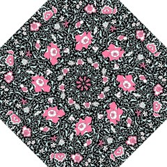 Oriental Style Floral Pattern Background Wallpaper Hook Handle Umbrellas (medium)