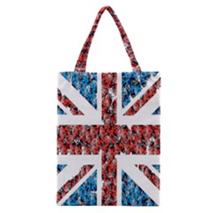 Fun And Unique Illustration Of The Uk Union Jack Flag Made Up Of Cartoon Ladybugs Classic Tote Bag by BangZart