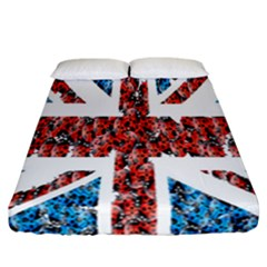 Fun And Unique Illustration Of The Uk Union Jack Flag Made Up Of Cartoon Ladybugs Fitted Sheet (california King Size) by BangZart