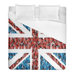 Fun And Unique Illustration Of The Uk Union Jack Flag Made Up Of Cartoon Ladybugs Duvet Cover (full/ Double Size)