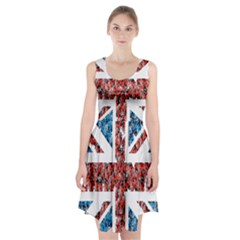 Fun And Unique Illustration Of The Uk Union Jack Flag Made Up Of Cartoon Ladybugs Racerback Midi Dress