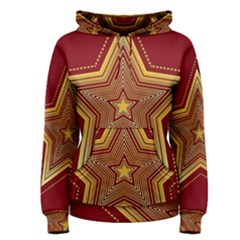 Christmas Star Seamless Pattern Women s Pullover Hoodie