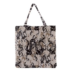 Dragon Pattern Background Grocery Tote Bag