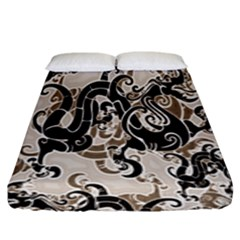 Dragon Pattern Background Fitted Sheet (king Size)