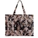 Dragon Pattern Background Zipper Mini Tote Bag View1