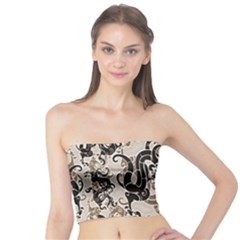 Dragon Pattern Background Tube Top