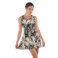 Dragon Pattern Background Cotton Racerback Dress