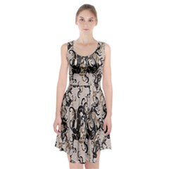 Dragon Pattern Background Racerback Midi Dress