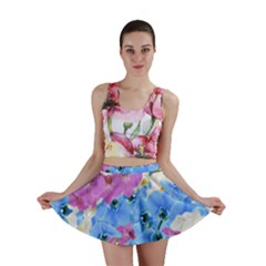 Tulips Floral Pattern Mini Skirt by paulaoliveiradesign