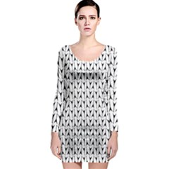 Flying V Electric Guitar Color Picker Print Long Sleeve Bodycon Dress by Brini