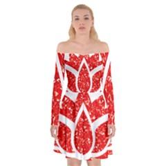 Ruby Lotus Off Shoulder Skater Dress