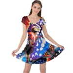 Butterfly Brilliance  - Cap Sleeve Dress