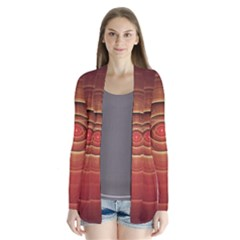 The Rusty Red Fractal Scarab Of Fiery Old Man Ra Drape Collar Cardigan by jayaprime