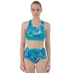 Blue Watercolors Circle                         Bikini Swimsuit Spa Swimsuit