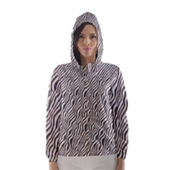 Zebra Pattern Animal Print Hooded Wind Breaker (women)