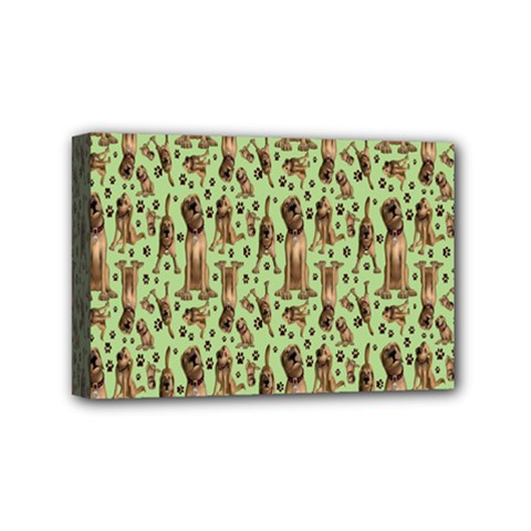 Puppy Dog Pattern Mini Canvas 6  X 4  by BangZart