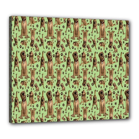 Puppy Dog Pattern Canvas 24  X 20  by BangZart