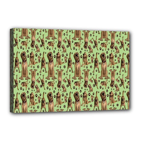 Puppy Dog Pattern Canvas 18  X 12