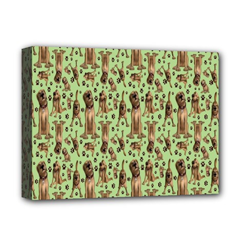 Puppy Dog Pattern Deluxe Canvas 16  X 12