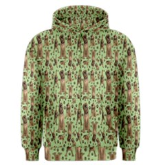 Puppy Dog Pattern Men s Zipper Hoodie