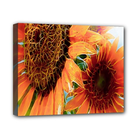 Sunflower Art  Artistic Effect Background Canvas 10  X 8