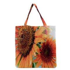 Sunflower Art  Artistic Effect Background Grocery Tote Bag by BangZart